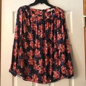 LOFT Semi-Sheer Floral Blouse - LP